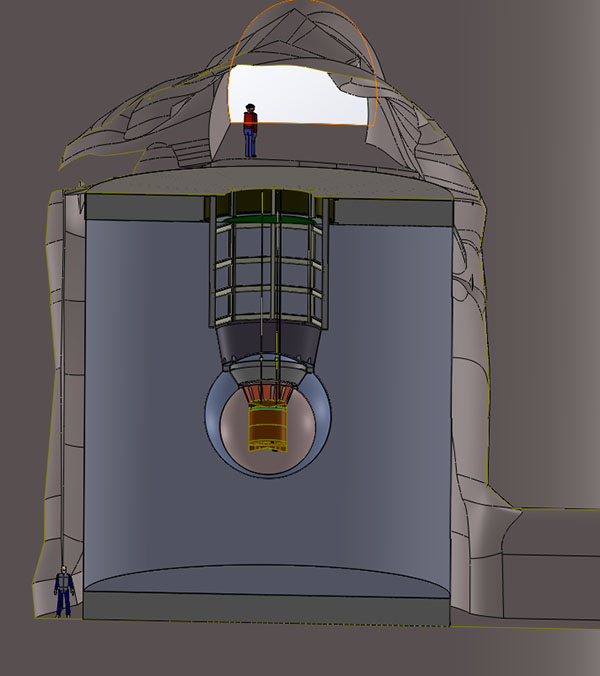 Artist's conception of nEXO in the SNOLAB cryopit